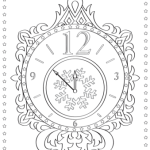 new years eve clock coloring page