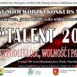 talent 2018 plakat s